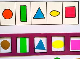 Геометричний сортер: розвиваюча гра з картками
