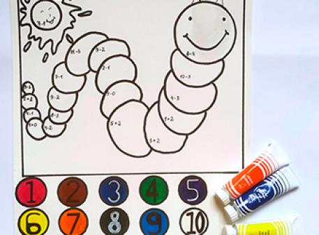 Математична розмальовка для малюків