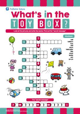 Кросворд англійською «Іграшки в моєму кошику»