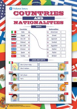 Назви країн і національностей (англійська мова)