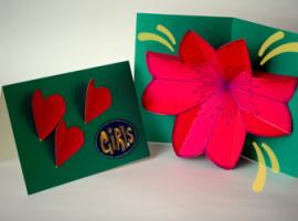 Як зробити pop-up листівку з квіткою всередині