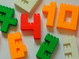 Як складати цифри з конструктора і грати