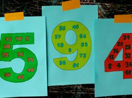 Вивчаємо добутки чисел: розмальовка і повторення