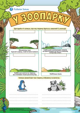 У зоопарку: знайомимося зі світом тварин