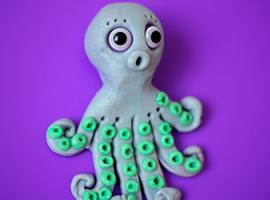 Восьминіг - скульптура для дітей із пластиліну