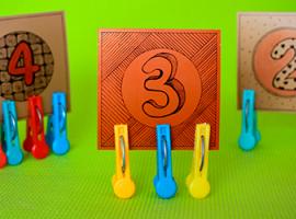 Тренування на відповідність цифр і предметів