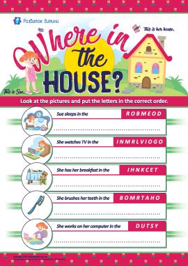 Анаграма «Кімнати в будинку» (англійська мова)