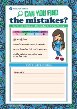 Шукаємо і виправляємо помилки (англійська мова)