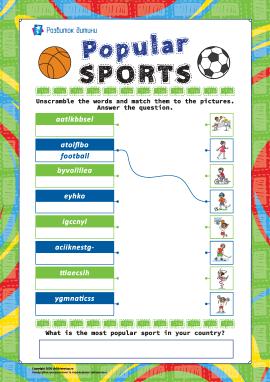 Анаграма «Види спорту» (англійська мова)