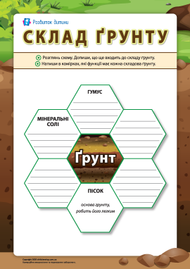 Склад ґрунту: закріплюємо вивчене