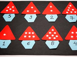 Грибочки з цифрами: тренуємо навики рахунку