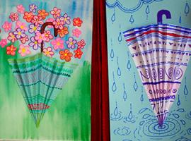 Аплікації за настроєм - об'ємні парасольки