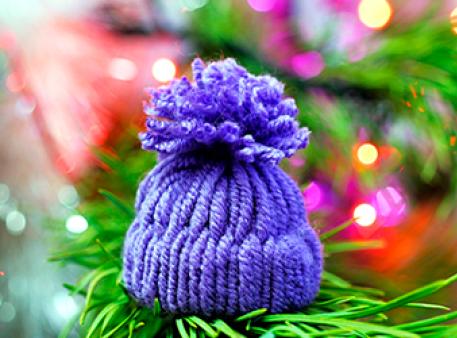Зимова саморобка - шапочка за 10 хвилин