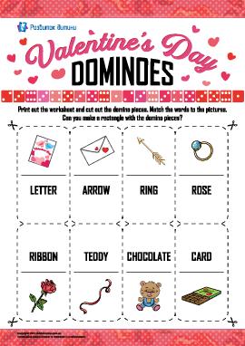 Головоломка-доміно «День святого Валентина» (англійська мова)