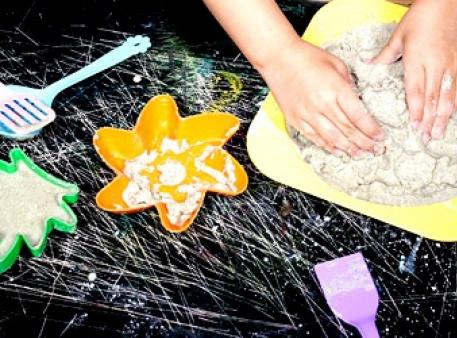 Кінетичний (живий, місячний) пісок своїми руками